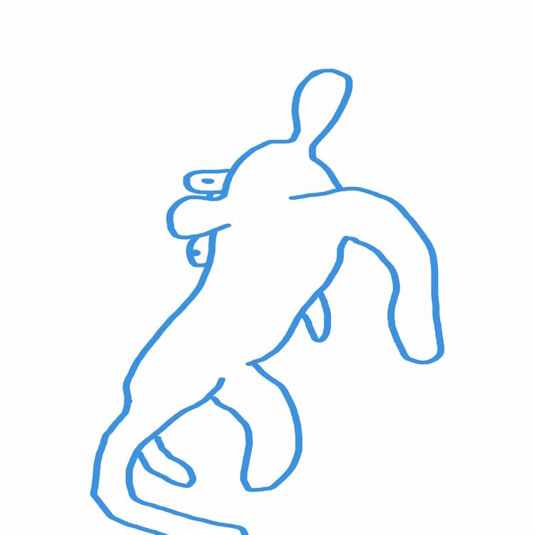 blue dog - art, illustration, digital - rickalex | ello