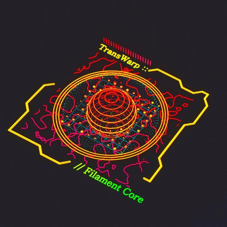 Core Cube  - hologram, ui, houdini - mjmurdock | ello