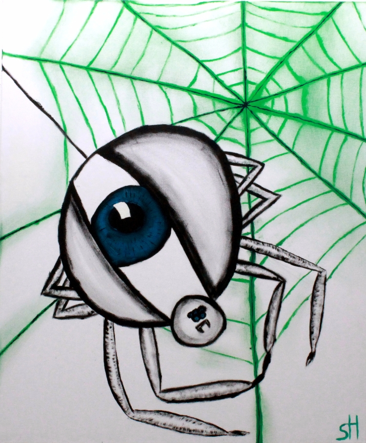 Eye spider watching world. worl - oneroses | ello