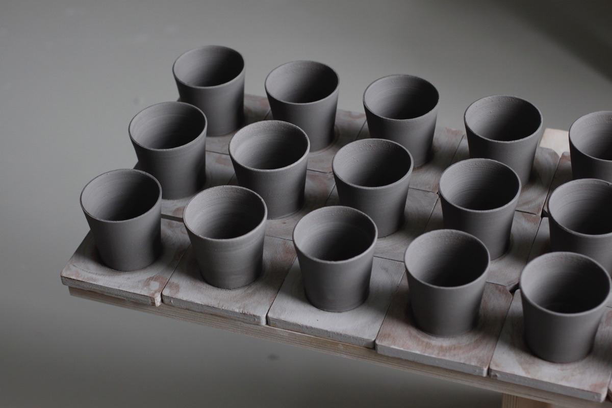 Espresso cups thrown blue black - elliottceramics | ello