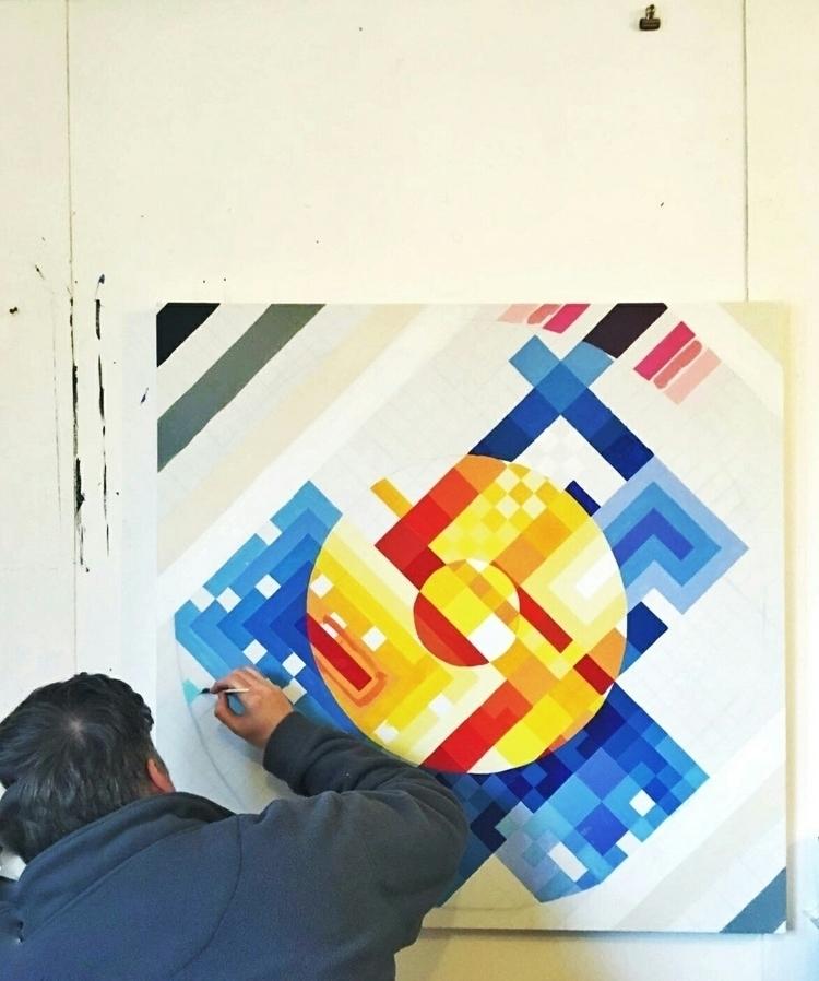 Flat painting studio min. min d - shaneomalleyart | ello