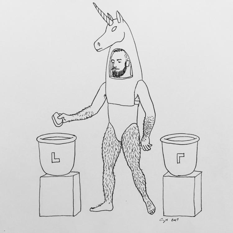 """Unicorn Casts Stone"", 2017, pi - cupidojala | ello"