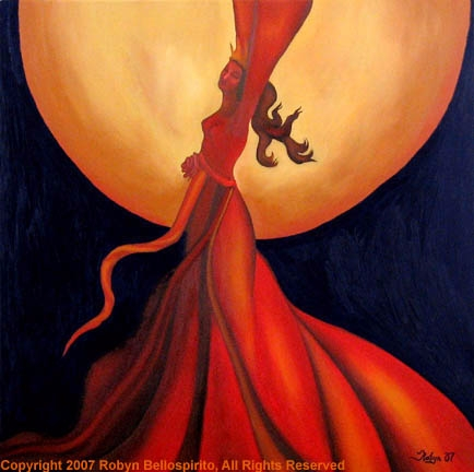 Flicker Fire Queen, oil canvas - robynbello | ello