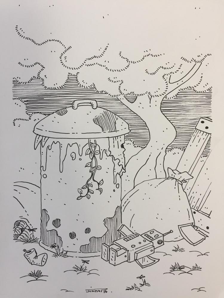 8 le petit robot oublié / forgo - jimmy-draws | ello