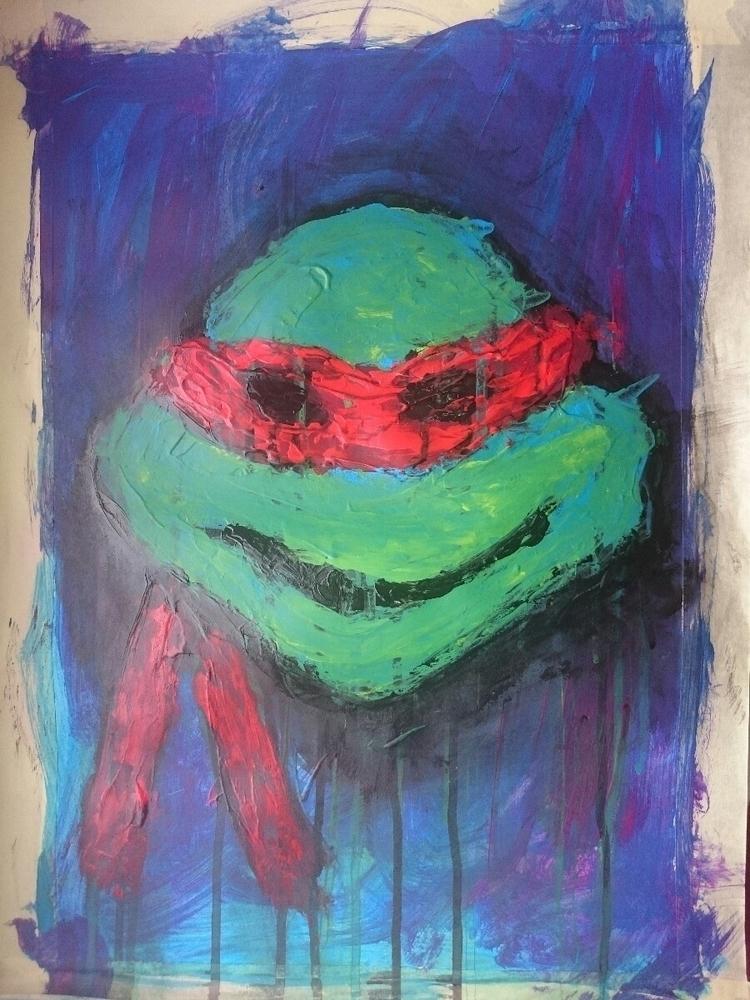 ninjaturtle, 90s, elloart, acryl - digital-btk | ello