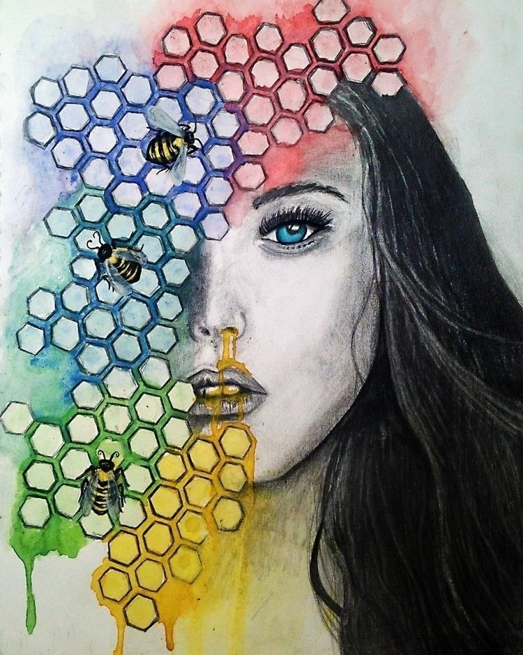 Pulchritudinous - watercolor gr - jadebloomart | ello