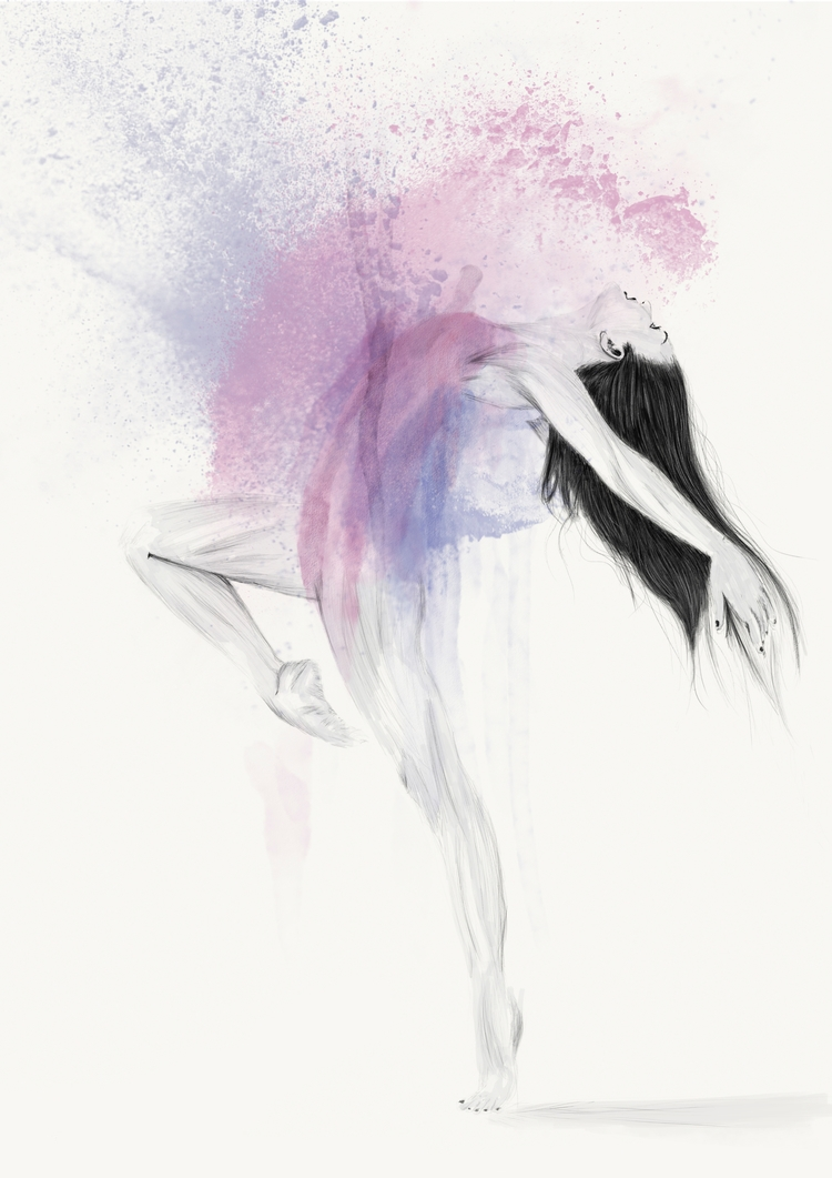 Ballerina - illustration, drawing - odinantonsen | ello