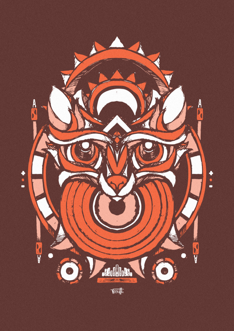 Fox - vector, illustration, music - vissotto | ello