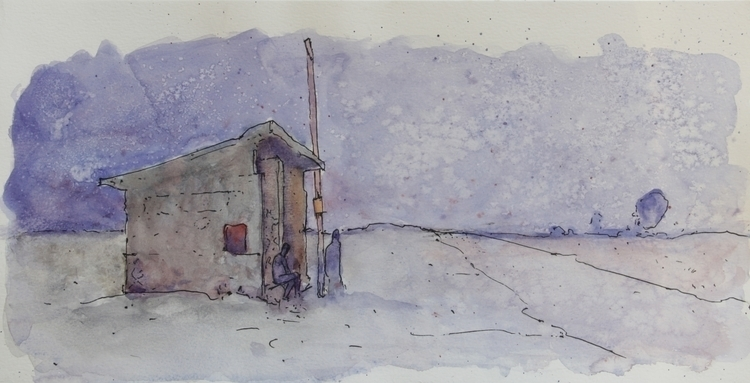 Acantilados. Ink + Watercolor p - agustinp | ello