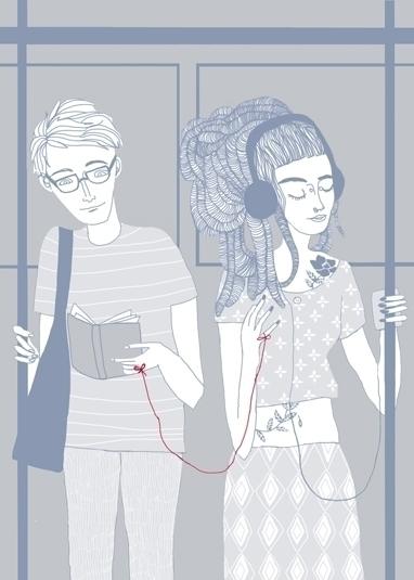 Il filo rosso - digitalillustration - spoto | ello
