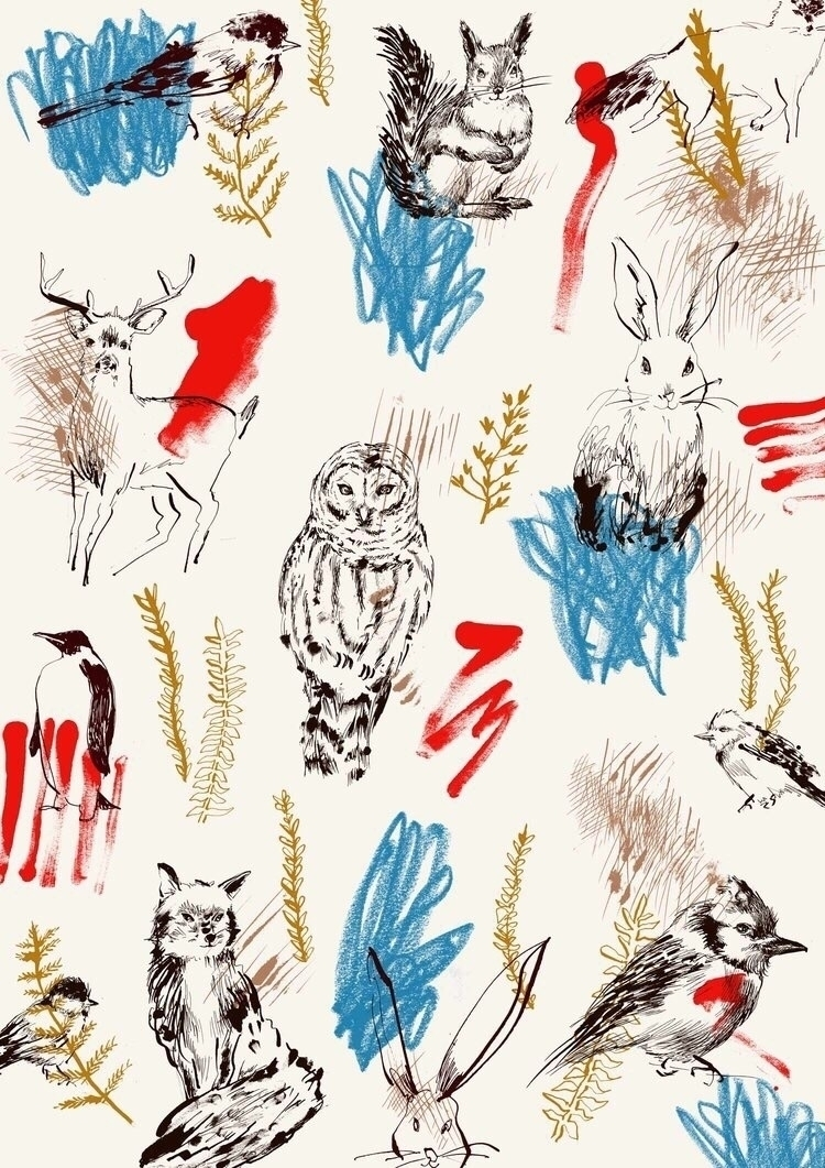 Animal Land - Pattern, Drawing, Illustration - eunjeongyoo | ello