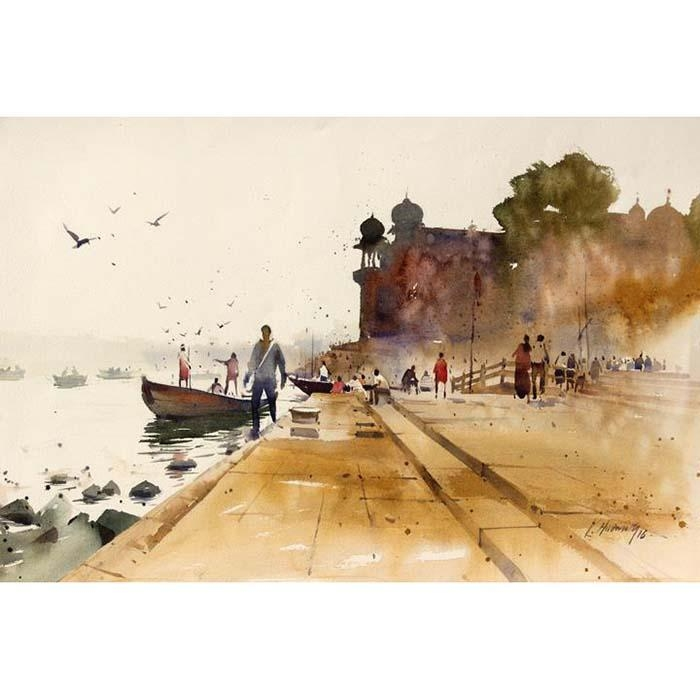 Banaras 6 Original Artwork HIRE - mondagallery | ello