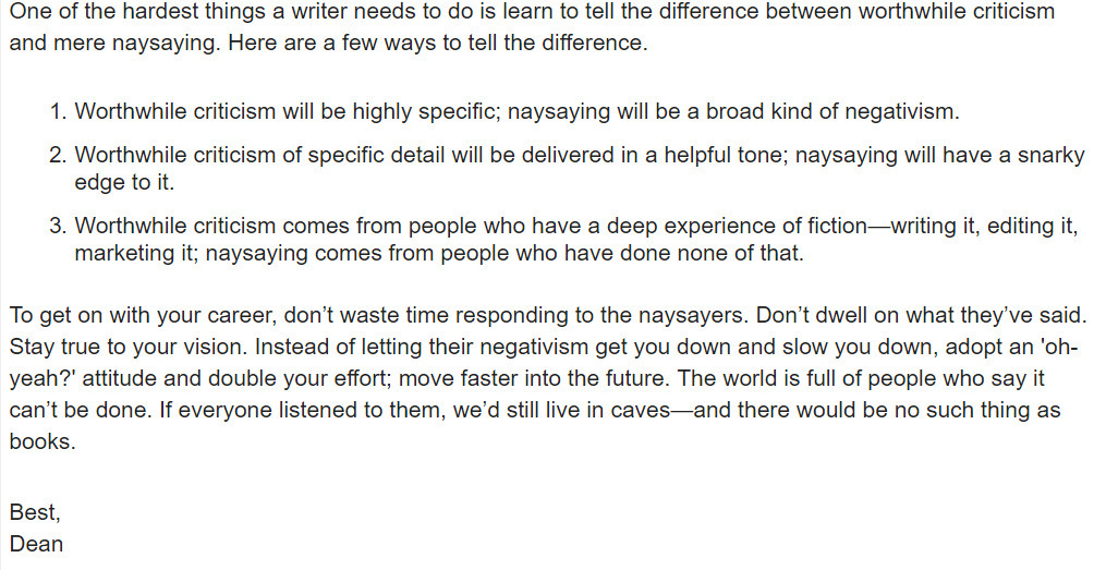 Dean Koontz, NaNo Pep Talks - tvansantana | ello