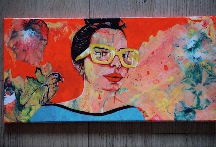 Acrylic/ resin canvas. ig find  - dominique_art | ello