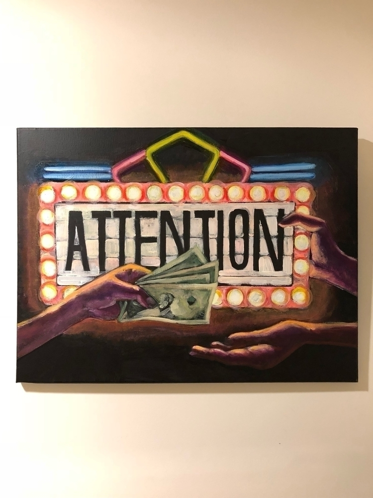 PAY ATTENTION! (Acrylic canvas  - dominique_art | ello