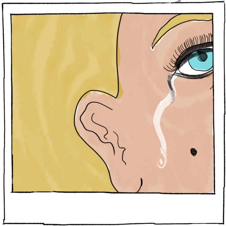 CRYING - fineart, artist, art, lineart - agency | ello