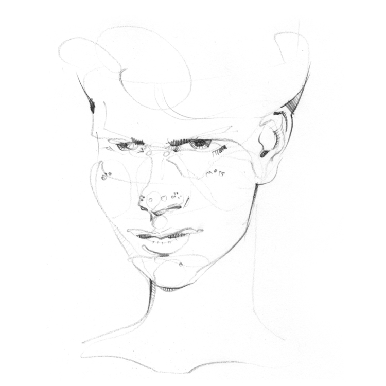 jasonthielke, sketch, face, figuredrawing - jasonthielke | ello