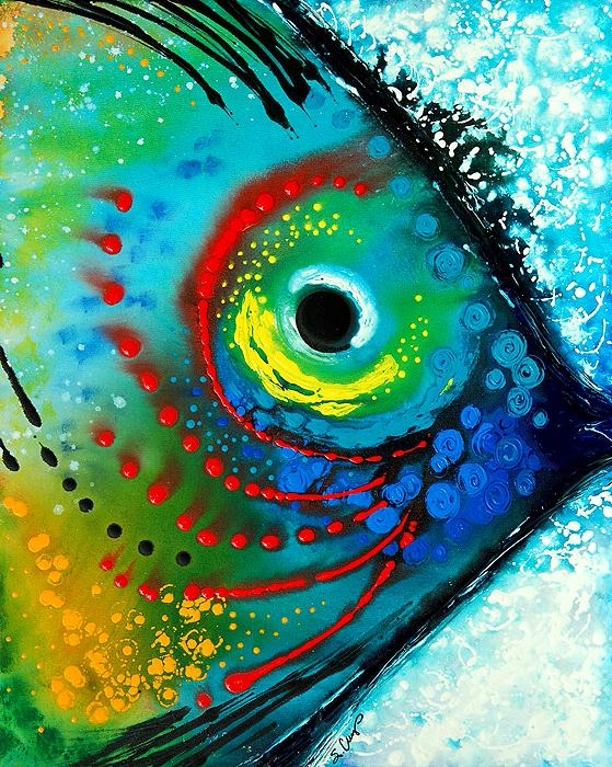 Tropical, Fish, Abstract, Painting - animallovers | ello