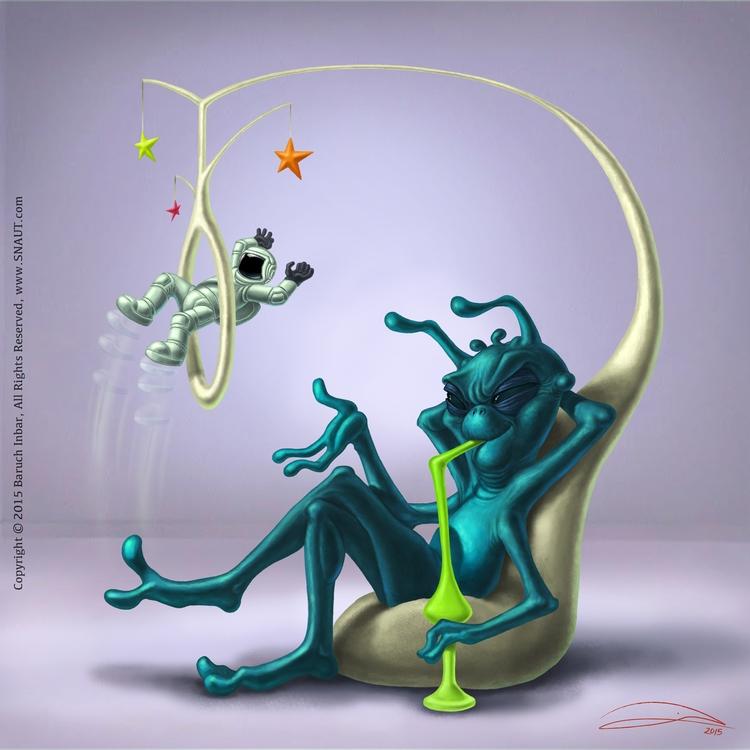 SPACE CIRCUS, digital - illustration - baruchinbar | ello