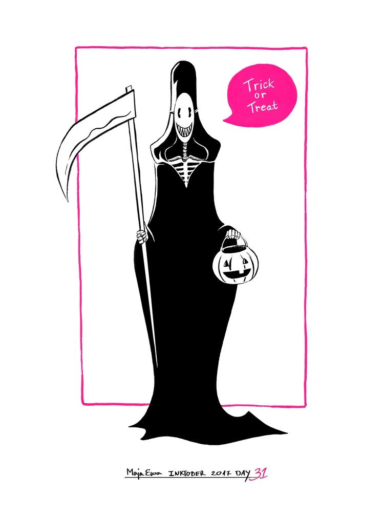 grimreaper, halloween, inktober - majaewa | ello