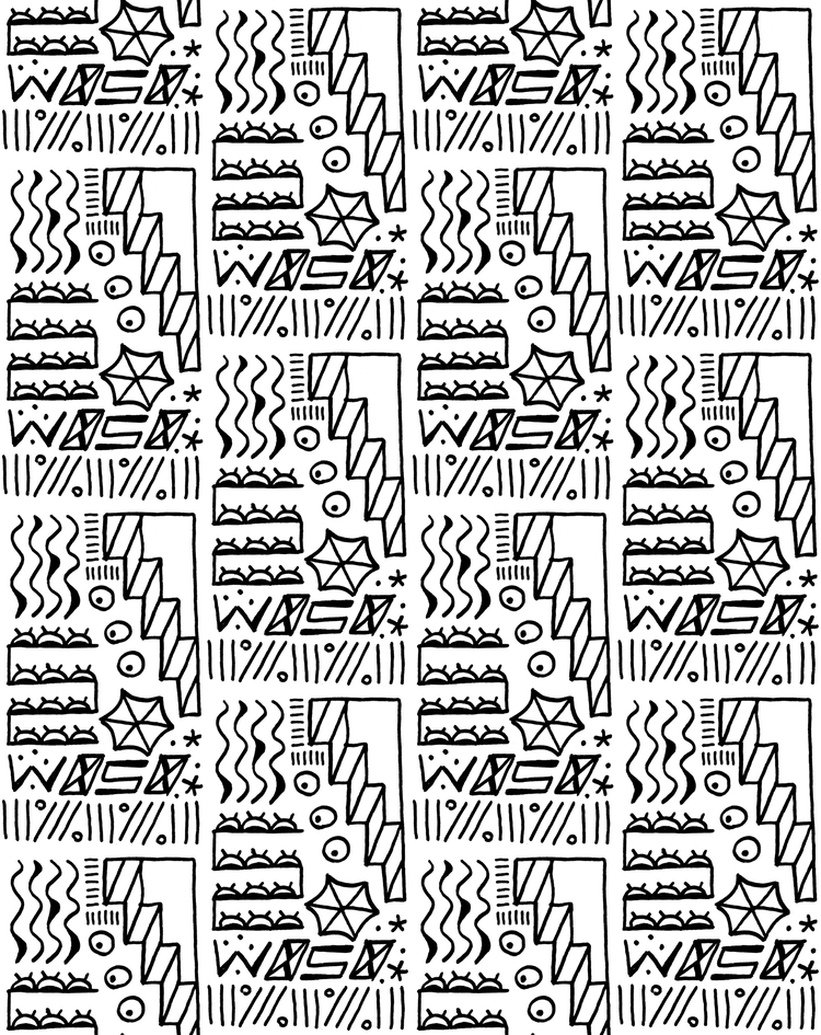 Pattern project. Pen paper. PS - baldokools | ello