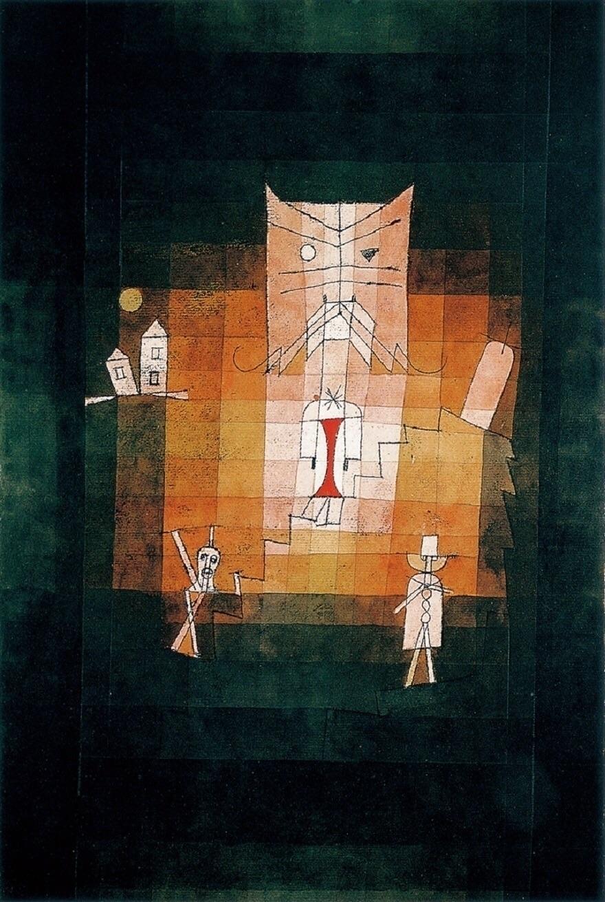 Paul - Mountain Sacred 1923 - Klee - bauhaus-movement | ello