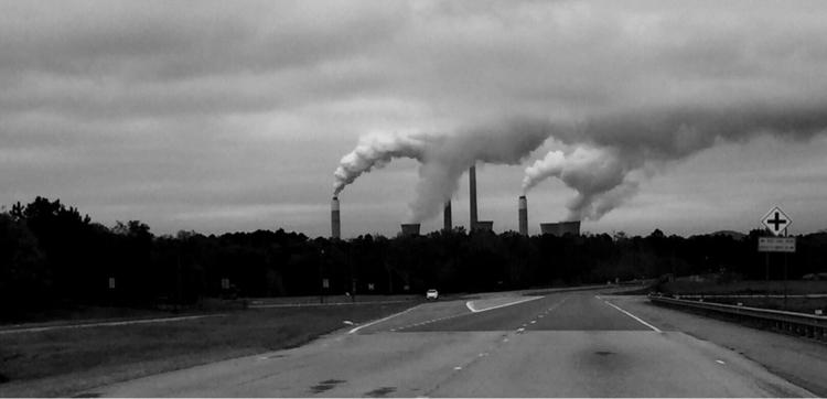 Georgia Power Plant - BlackandWhite - j_smith | ello