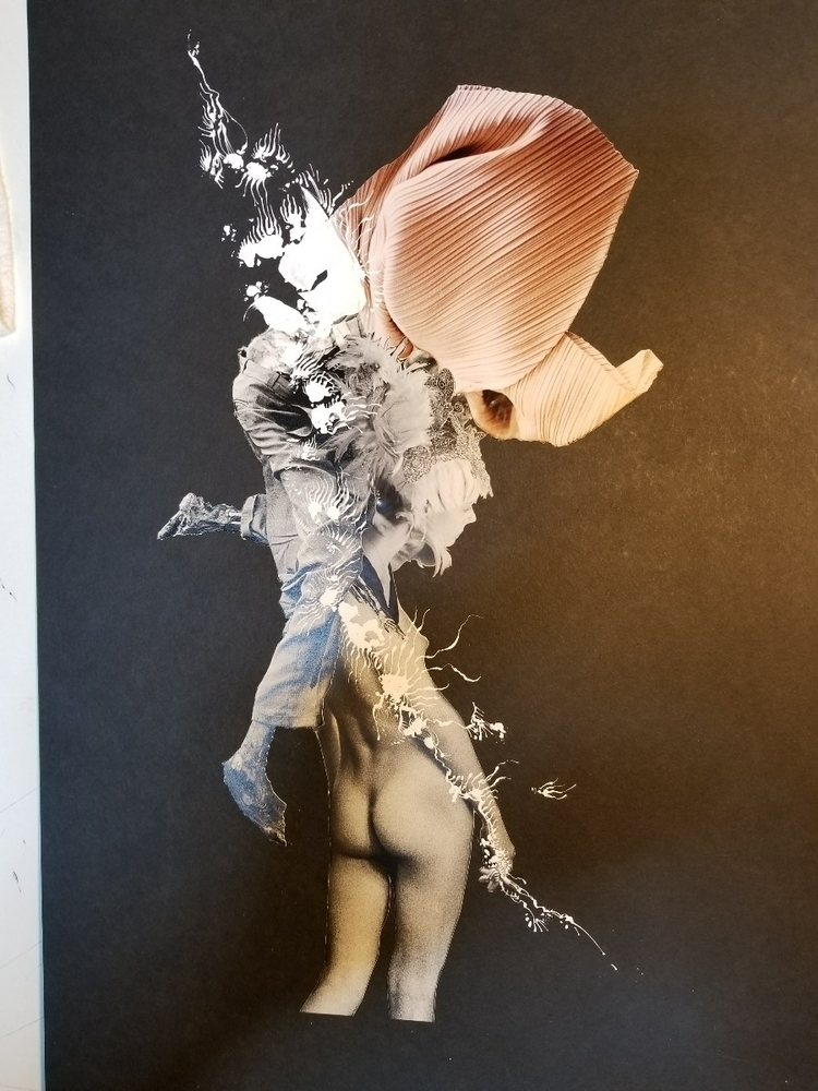 Inked - collage, collageart, penandink - curtispatrickarnold | ello