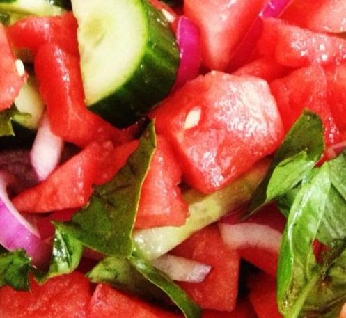 Watermelon Cucumber Salad - Recipes - recipesbysara | ello