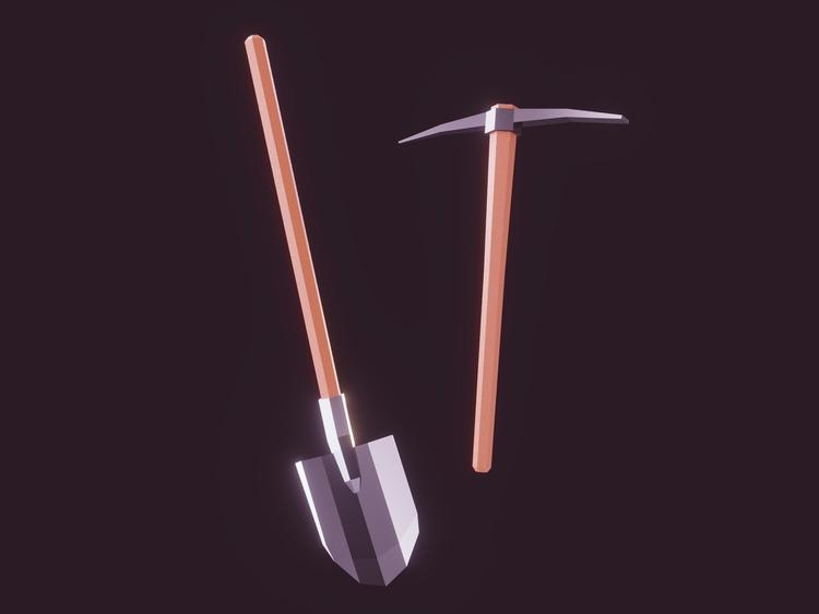 Diggin'! Lowpoly tools breath l - romanpapush | ello