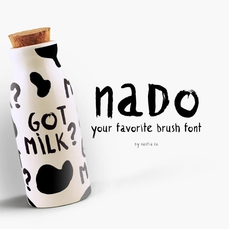 introduce NADO Font. dry brush  - nantia | ello