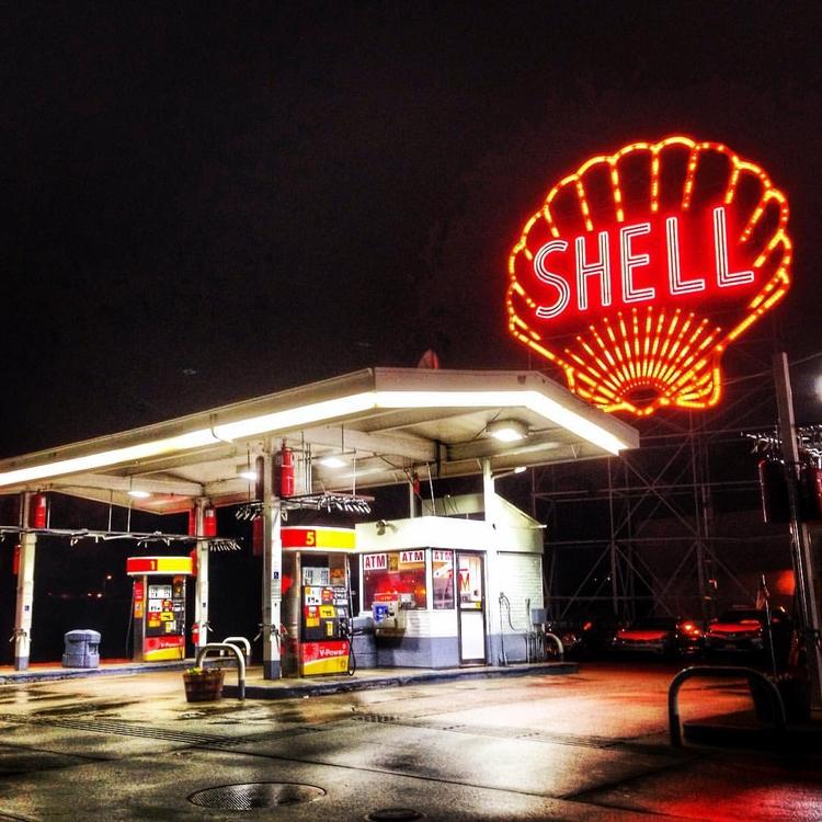 Nighttime America - Gasstations - davidjdeal | ello