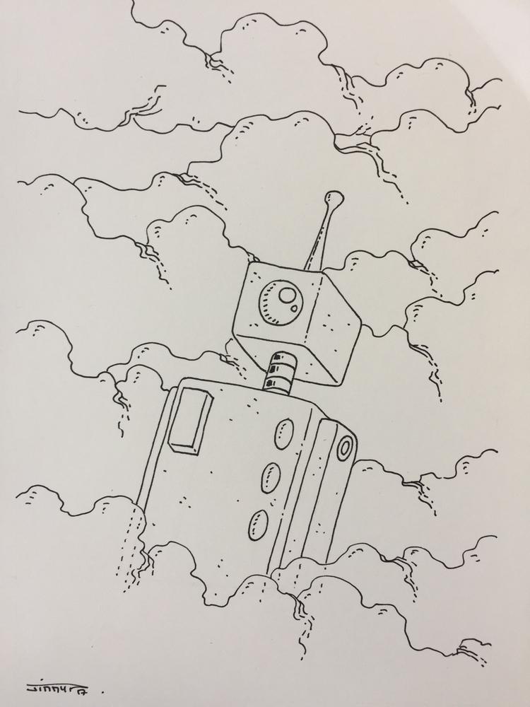 13 le robot dans brouillard / f - jimmy-draws | ello
