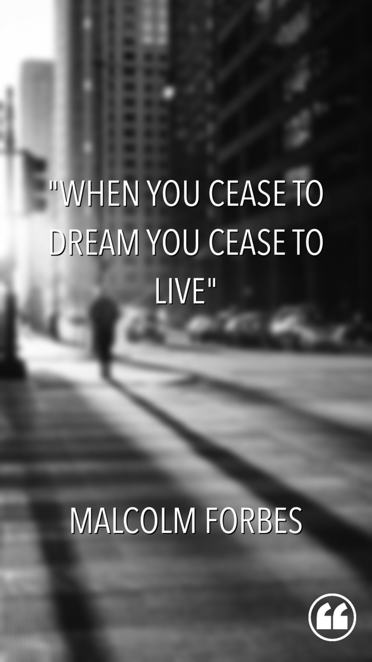 "cease dream, live."" Malcolm For - esquirephotography 