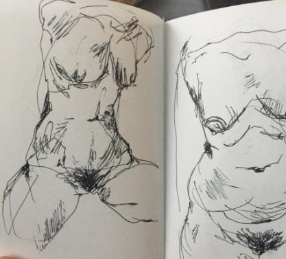 Figure studies - sketchbook, penandink - blflood | ello