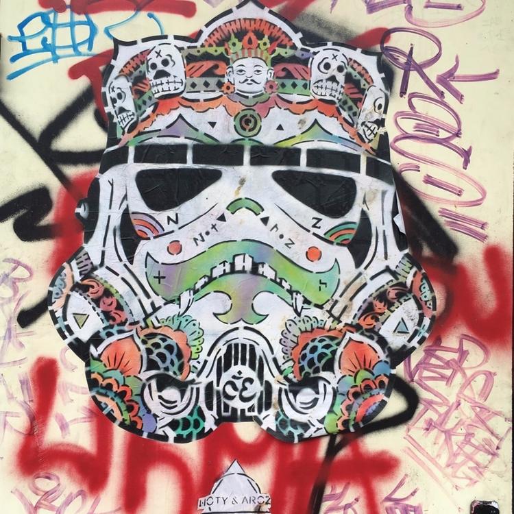 Mask - street, streetart, streetartist - philippefabry | ello