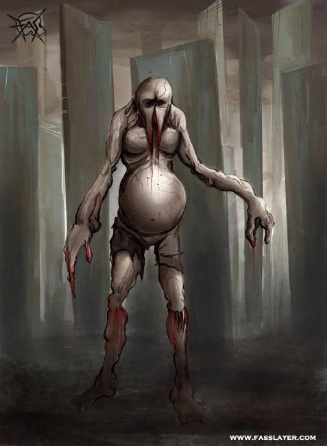 17-11-13 - horrorart, monster, digitalillustation - fasslayer | ello
