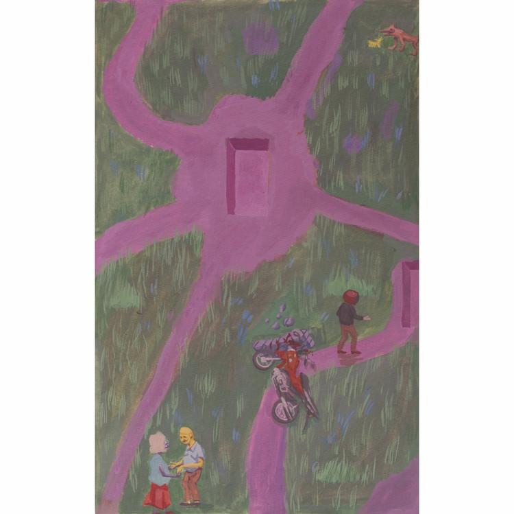 Path - painting, art, path, gouache - rseles | ello