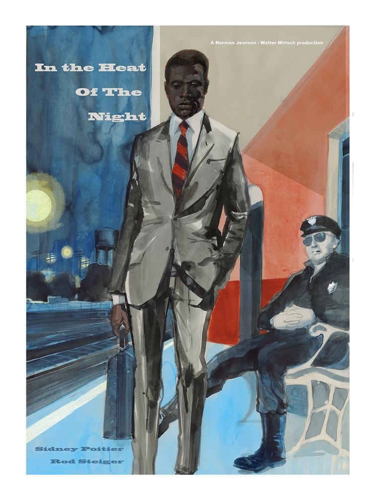 poster 1967 Film ' Heat Night'  - alexgreendraws   ello