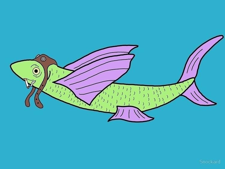 Fightin Flyin Fish - Digital Dr - snockardchanning   ello