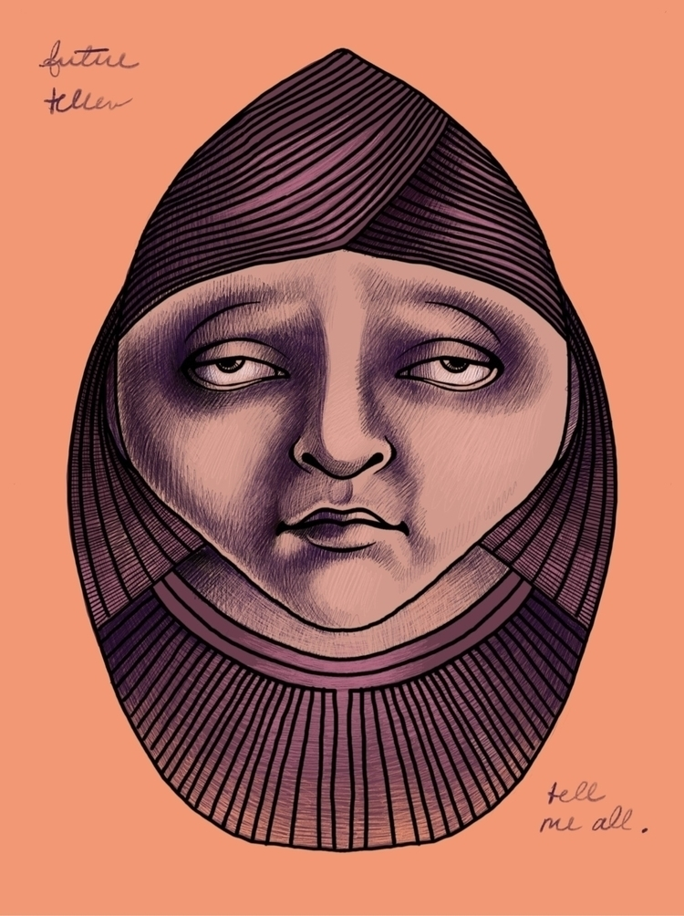 Fortune Teller - art, illustration - amika14 | ello