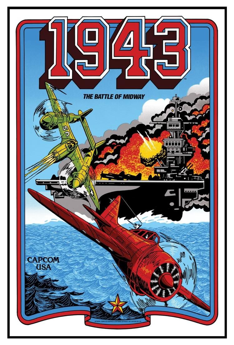 1943 poster (CAPCOM 1987 - VideoGame - shingos | ello