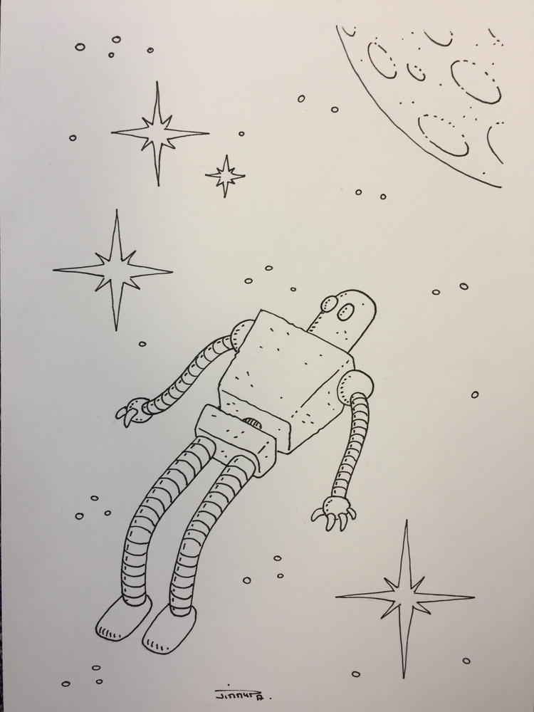 14 le de / space robot:blush - novembots - jimmy-draws | ello