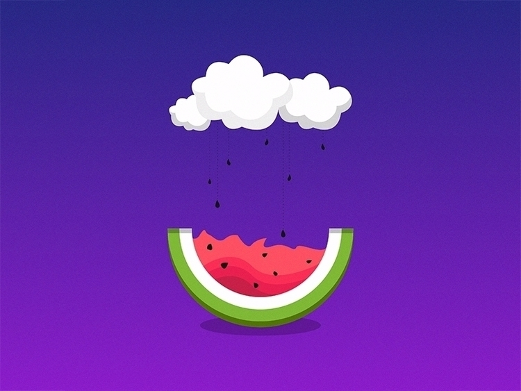 Watermelons. clouds crying - emojibook - km_johnston | ello
