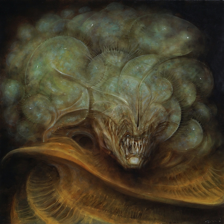Serpent, 18x18 oil wood panel.  - briansmith123   ello
