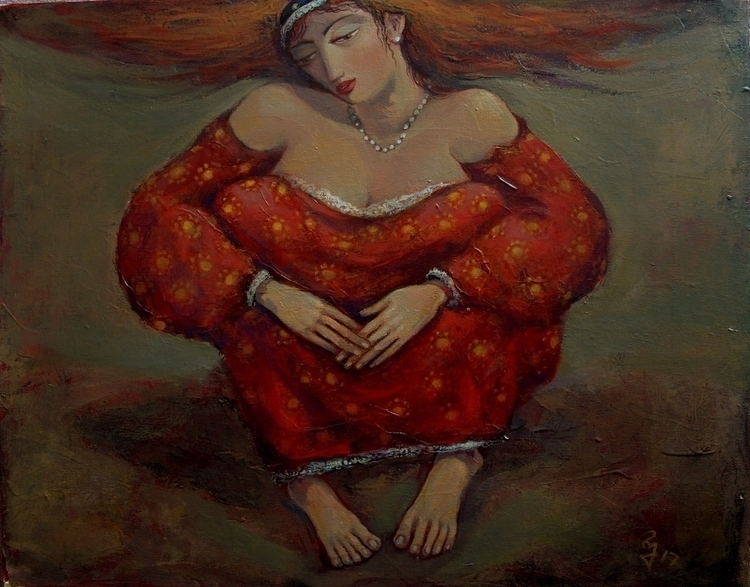 Girl Red. Acrylic canvas. 50cnX - giaruart61 | ello