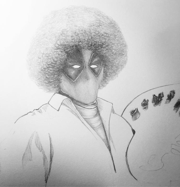 Bob Ross - Drawing - alexei5000   ello