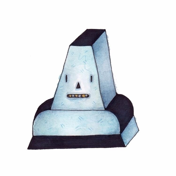 Blue Tomb ink water colour pape - bascofive | ello