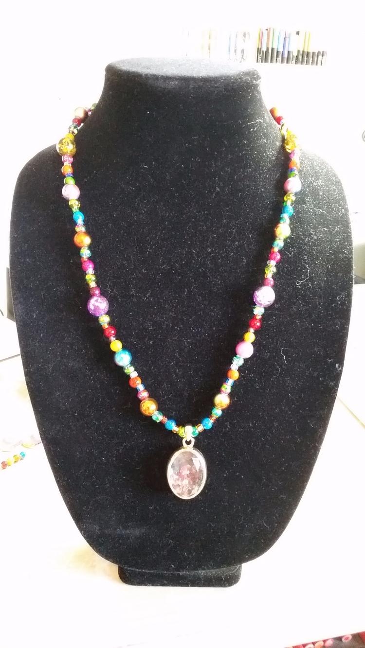 rainbow necklace friend work. l - artistakemidesigns | ello