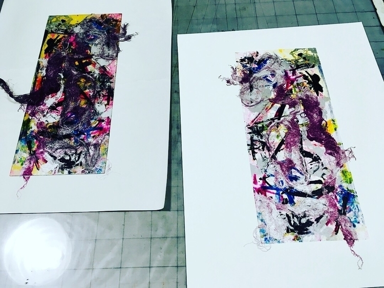 printmaking - print, abstract - elekz | ello